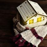 Warm house w/ scarf